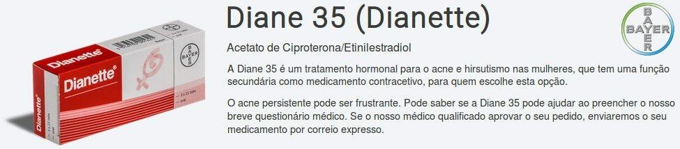 Compre Diane 35 ao melhor preço numa farmácia em Portugal