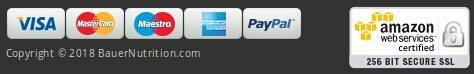 Pagamentos seguros na Bauer Nutrition: cartões bancários, paypal quando compra: a opinião dos consumidores