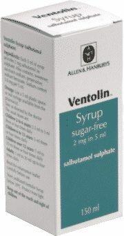 Ventolin também está disponível em xarope com dosagens a serem respeitadas