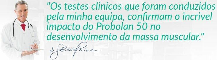 O médico certifica Probolan 50 após estudos científicos